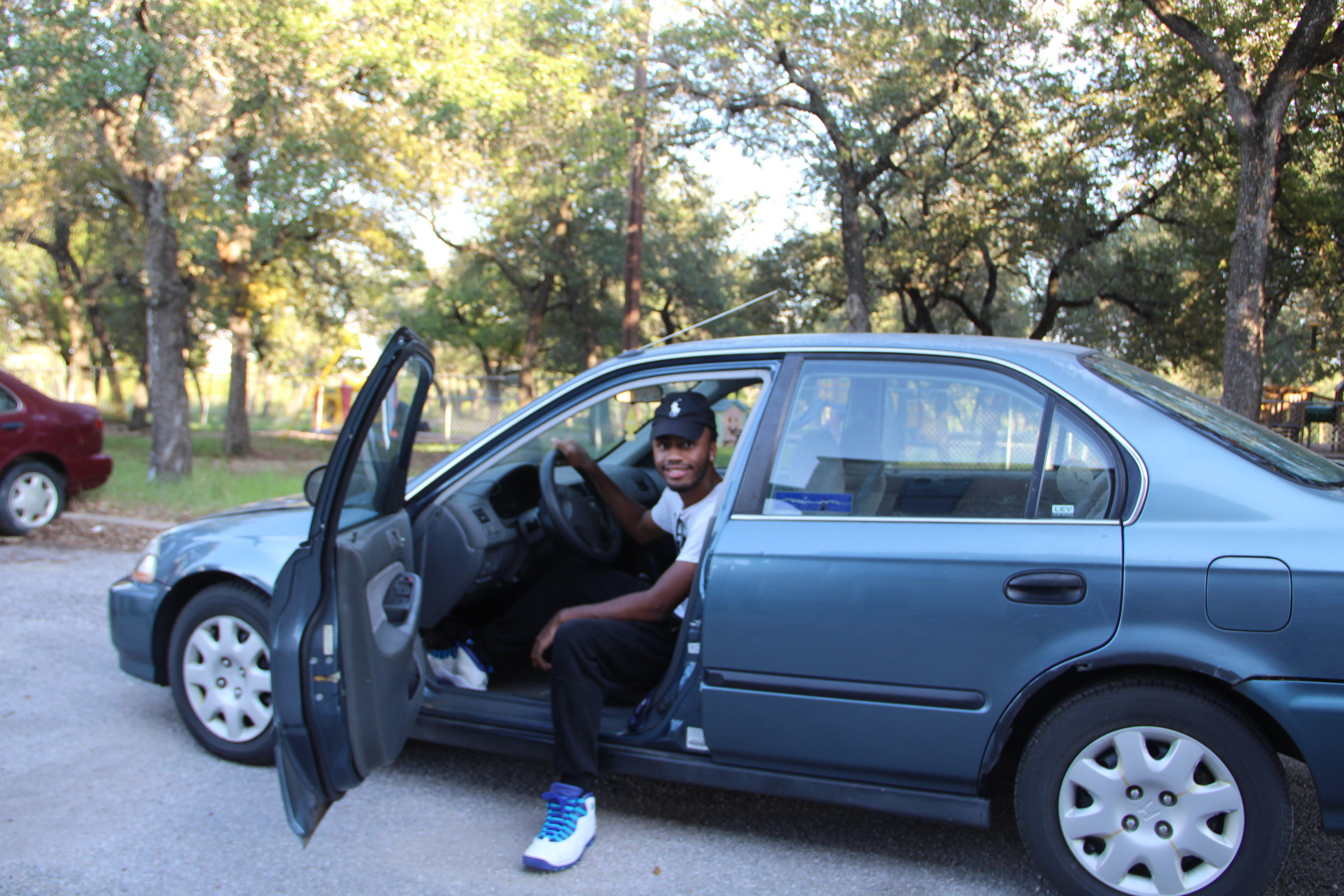 Tyler In His New Car